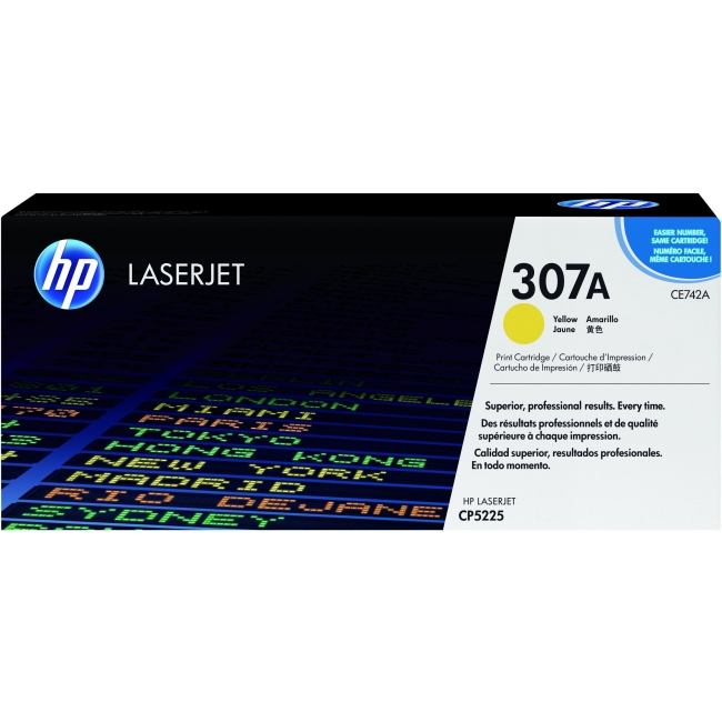 HP 307A Original Toner Cartridge - Yellow - Laser - 7300 Page CE742A